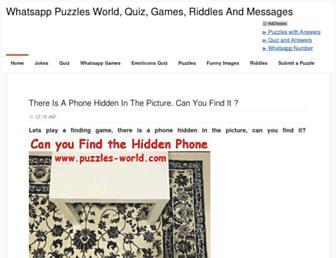 puzzles-world.com screenshot