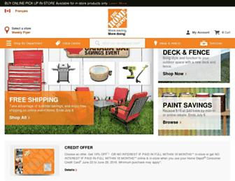 Main page screenshot of homedepot.ca