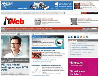 Main page screenshot of itweb.co.za