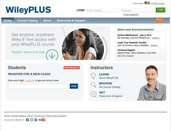Thumbshot of Wileyplus.com