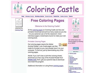 coloringcastle.com screenshot