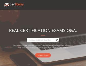 certlibrary.com screenshot