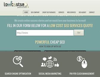 lowcostseo.co screenshot