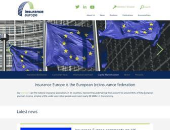 insuranceeurope.eu screenshot