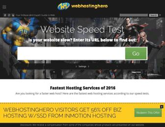 webhostinghero.com screenshot