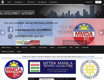 mmda.gov.ph screenshot