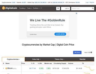 digitalcoinprice.com screenshot