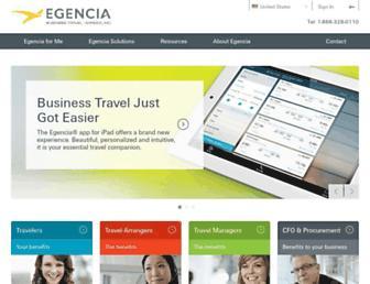 egencia.com screenshot