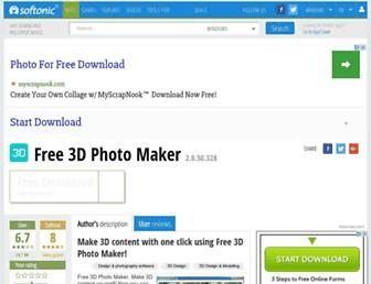 free-3d-photo-maker.en.softonic.com screenshot