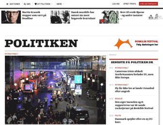 Main page screenshot of politiken.dk