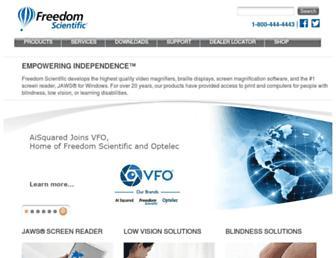 freedomscientific.com screenshot