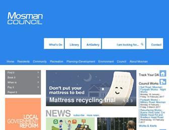 mosman.nsw.gov.au screenshot