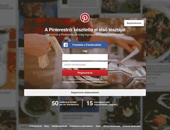 hu.pinterest.com screenshot