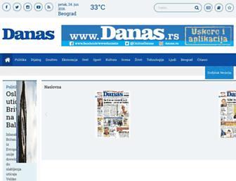 Main page screenshot of danas.rs