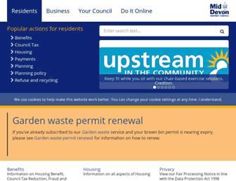 middevon.gov.uk screenshot