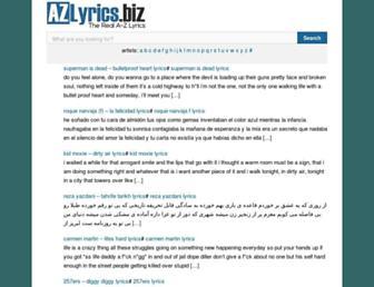 azlyrics.biz screenshot