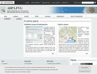 Main page screenshot of arpa.fvg.it