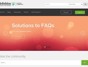 community.infoblox.com screenshot