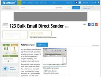 123-bulk-email-direct-sender.en.softonic.com screenshot