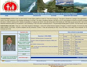 nrhmarunachal.gov.in screenshot