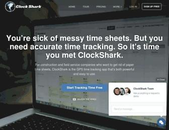 clockshark.com screenshot