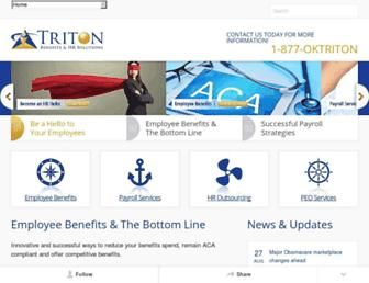 tritonhr.com screenshot