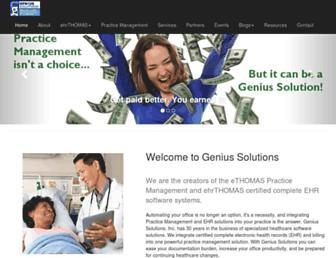 geniussolutions.com screenshot
