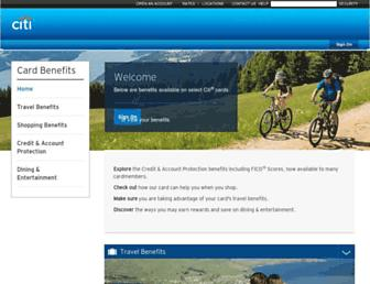 cardbenefits.citi.com screenshot