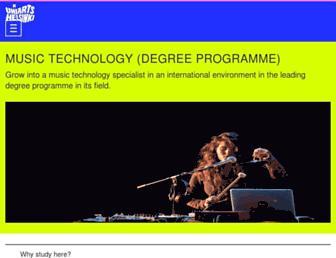 Main page screenshot of cmt.siba.fi