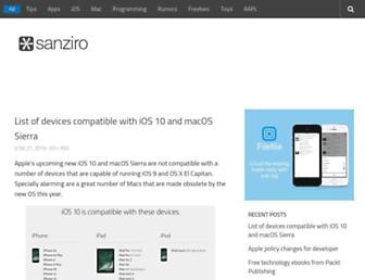 sanziro.com screenshot