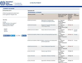 erecruit.ilo.org screenshot