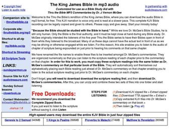 mp3bible.ca screenshot