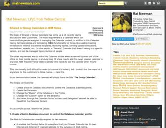 matnewman.com screenshot