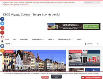 voyages.ideoz.fr screenshot