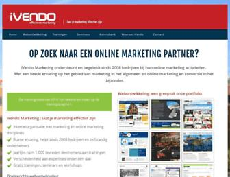Main page screenshot of ivendo.nl
