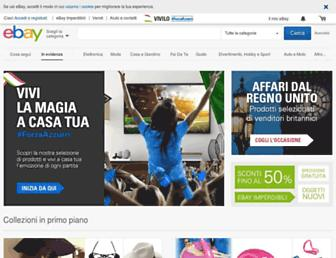 Main page screenshot of ebay.it
