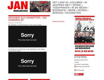 Main page screenshot of janmarijnissen.nl