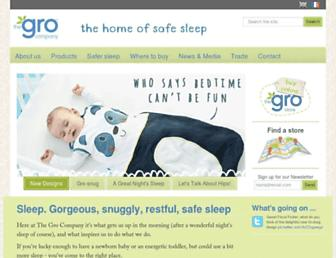 Main page screenshot of gro.co.uk