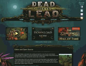 deadmeetslead.org screenshot