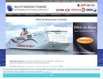 billet-bateau-tunisie.com screenshot