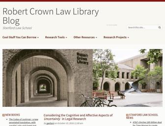 Main page screenshot of liblog.law.stanford.edu