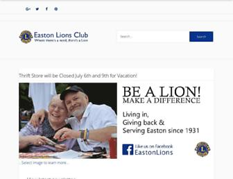 eastonlions.com screenshot