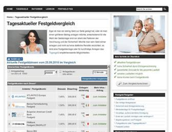 Thumbshot of Festgeldanlage.org
