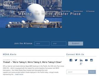 missiledefenseadvocacy.org screenshot