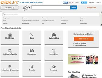 Main page screenshot of click.in