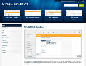 mvc.daypilot.org screenshot