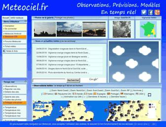 Thumbshot of Meteociel.fr