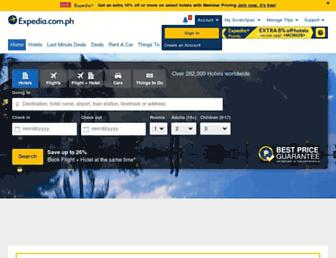 expedia.com.ph screenshot