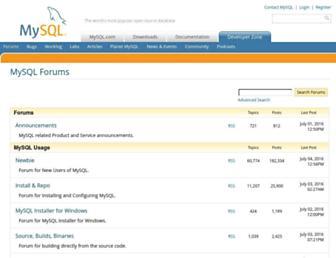 forums.mysql.com screenshot