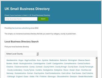 Thumbshot of Uksmallbusinessdirectory.co.uk